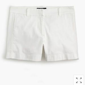 J. Crew White Chino Short
